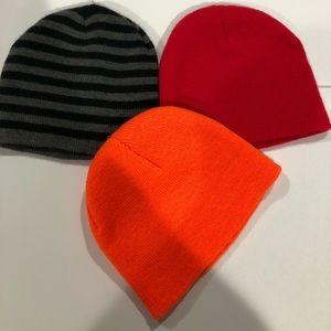 (3) baby winter hats.